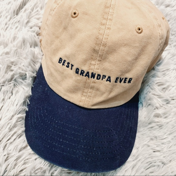 Gramps Cap Adjustable Hat Blue Red Trim  New With Tags